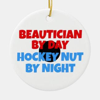 Beautician Hockey Fanatic Ceramic Ornament