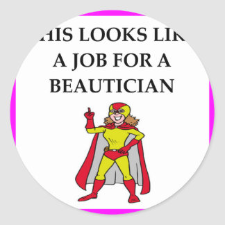 BEAUTICIAN ROUND STICKER