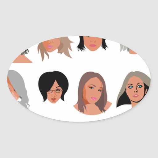 Beauties_by_Rones BEAUTY STYLE FASHION MODELS WOME Oval Sticker
