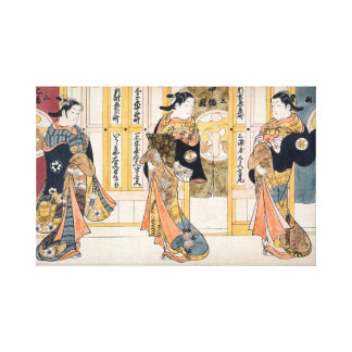 Beauties of the three capitals triptych canvas print
