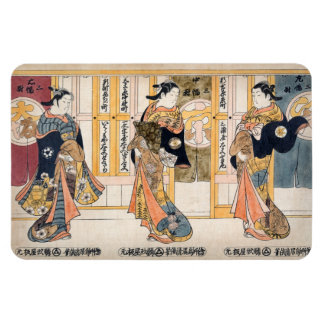 Beauties of the three capitals triptych magnet