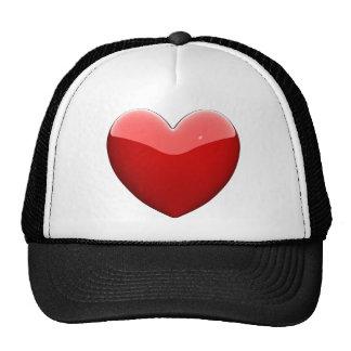 Beautifil red heart trucker hat