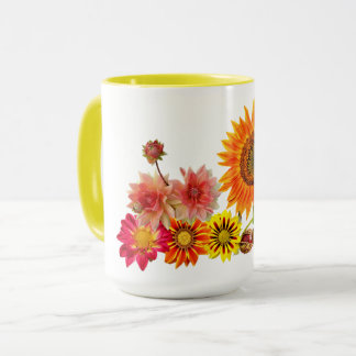 beautiful 15oz combo mug yellow ring & handle flow