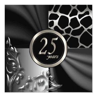Beautiful 25th Anniversary Party Invitation