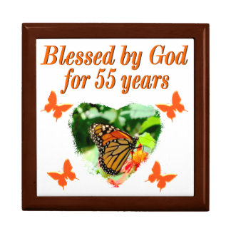 BEAUTIFUL 55TH BIRTHDAY BUTTERFLY GIFT BOX