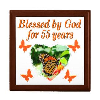 BEAUTIFUL 55TH BIRTHDAY BUTTERFLY GIFT BOX