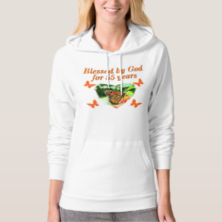 BEAUTIFUL 55TH BIRTHDAY BUTTERFLY HOODIE