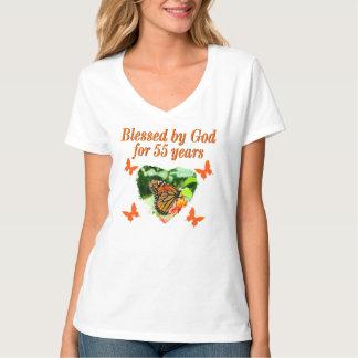 BEAUTIFUL 55TH BIRTHDAY BUTTERFLY T-Shirt