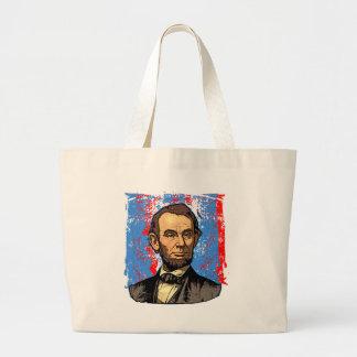 Beautiful Abraham Lincoln Portrait Large Tote Bag