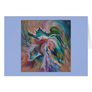 Beautiful abstract angel notecard