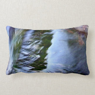 Beautiful Abstract Artful Blue Lumbar Pillow