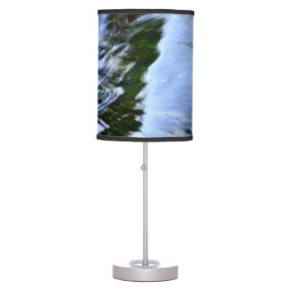 Beautiful Abstract Artful Blue Table Lamp