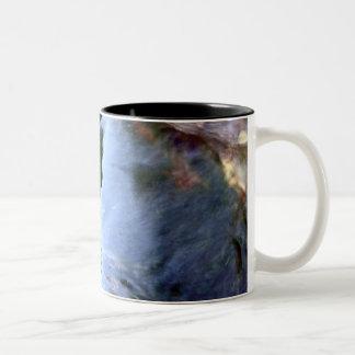 Beautiful Abstract Artful Blue Two-Tone Coffee Mug