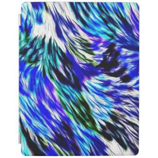 Beautiful Abstract Blue Green White Purple Pattern iPad Cover