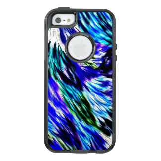 Beautiful Abstract Blue Green White Purple Pattern OtterBox iPhone 5/5s/SE Case