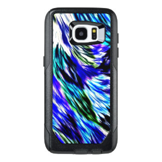 Beautiful Abstract Blue Green White Purple Pattern OtterBox Samsung Galaxy S7 Edge Case