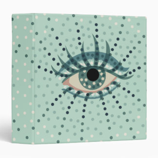 Beautiful Abstract Dotted Blue Eye 3 Ring Binders