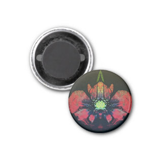 Beautiful abstract floral magnet