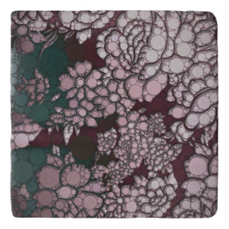 Beautiful Abstract Flowers Trivet