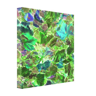 Beautiful Abstract Green Leaves Foliage Canvas Print