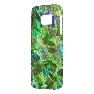 Beautiful Abstract Green Leaves Foliage Samsung Galaxy S7 Case
