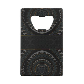 Beautiful Abstract Monogram Wallet Bottle Opener
