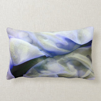Beautiful Abstract Nature White and Blue Lumbar Pillow