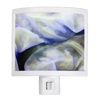 Beautiful Abstract Nature White and Blue Nite Lite