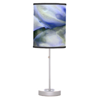 Beautiful Abstract Nature White and Blue Table Lamp