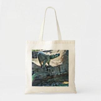 Beautiful Abstract Polar Bear Budget Tote Bag