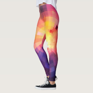 Beautiful Abstract Rainbow Leggings