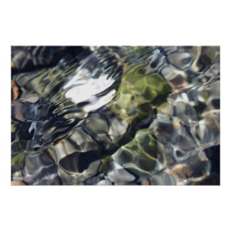 Beautiful Abstract Water Photograph Poster