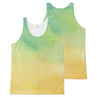 Beautiful Abstract Watercolor All-Over-Print Tank Top