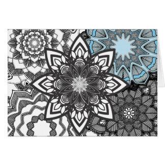 Beautiful Adult Coloring Mandala Card