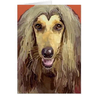 Beautiful Afghan Hound Greeting Card