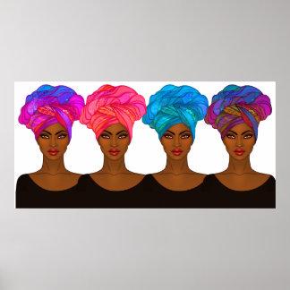 Beautiful African American - Black Woman Poster