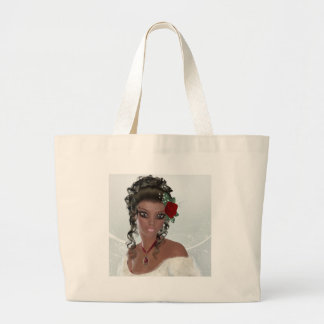 Beautiful African American Woman Large Tote Bag