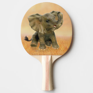 Beautiful African Baby Elephant Ping-Pong Paddle
