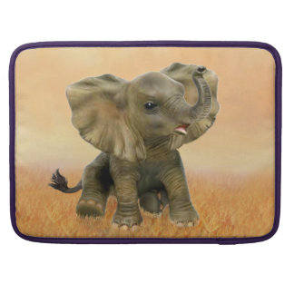 Beautiful African Baby Elephant Sleeves For MacBooks