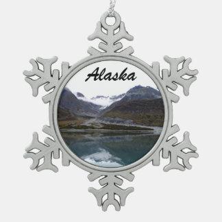 Beautiful Alaska! Pewter Snowflake Ornament
