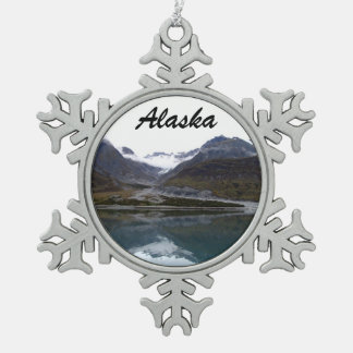 Beautiful Alaska! Snowflake Pewter Christmas Ornament