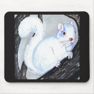 Beautiful Albino Squirrel Mouse Pad