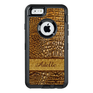 Beautiful Alligator Skin Custom  Monogram OtterBox iPhone 6/6s Case