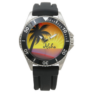 Beautiful Aloha Tropical Sunset Watch