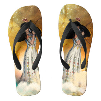Beautiful amarican indian flip flops