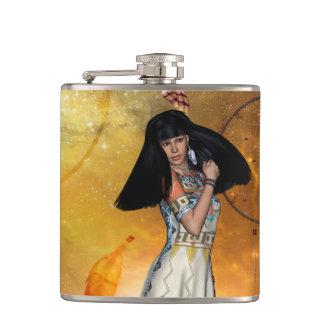Beautiful amarican indian hip flask