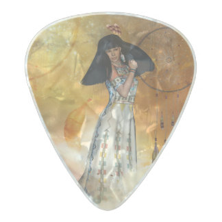 Beautiful amarican indian pearl celluloid guitar pick