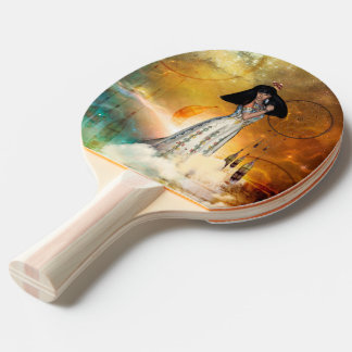 Beautiful amarican indian ping pong paddle