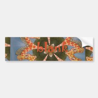 Beautiful amazing African colorful Giraffe blank Bumper Sticker