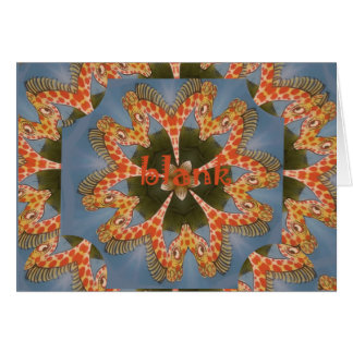 Beautiful amazing African colorful Giraffe blank Card